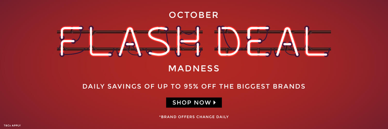 October Flash Deal Madness