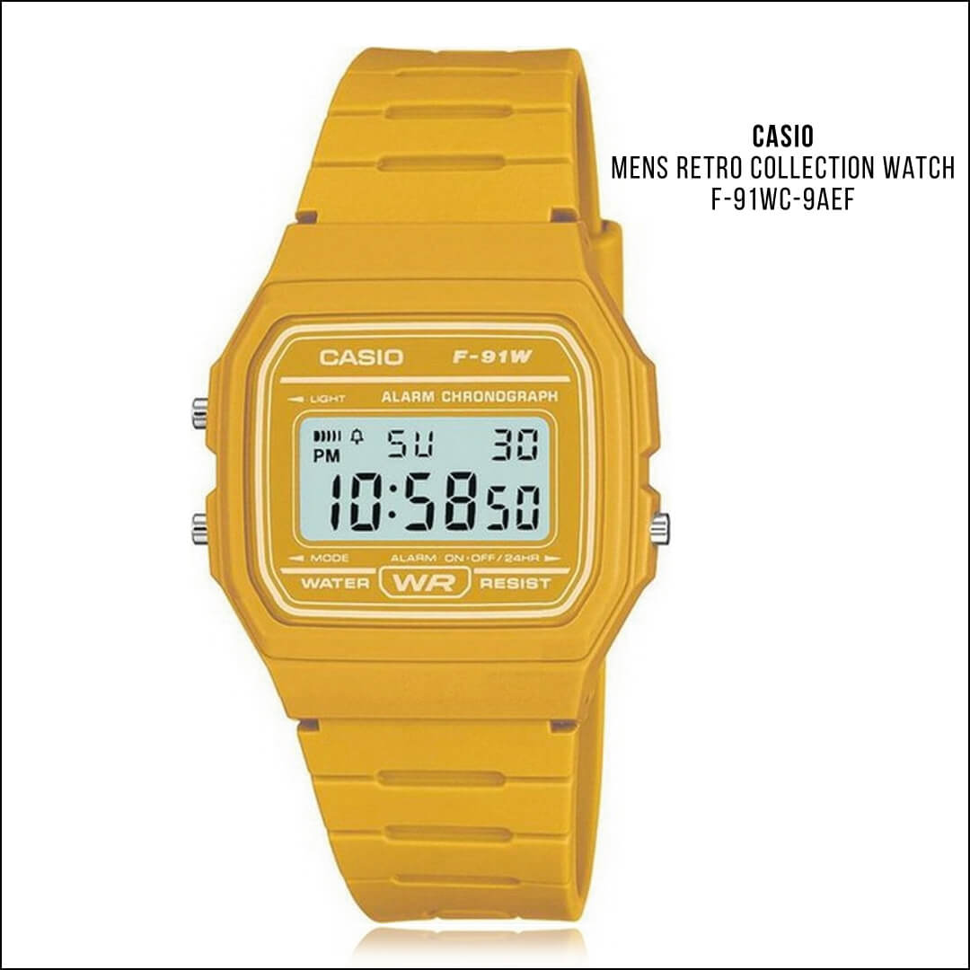 2018 Colour Trends Yellow Casio F-91WC-9AEF
