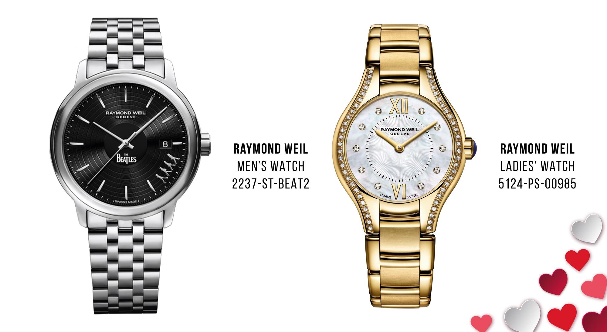 Luxury Valentine's Day Gifts Raymond Weil watches