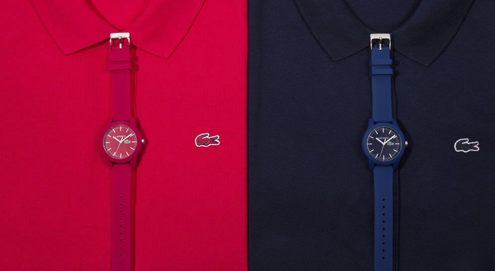 Lacoste 12.12 watches inspired by Polo shirts