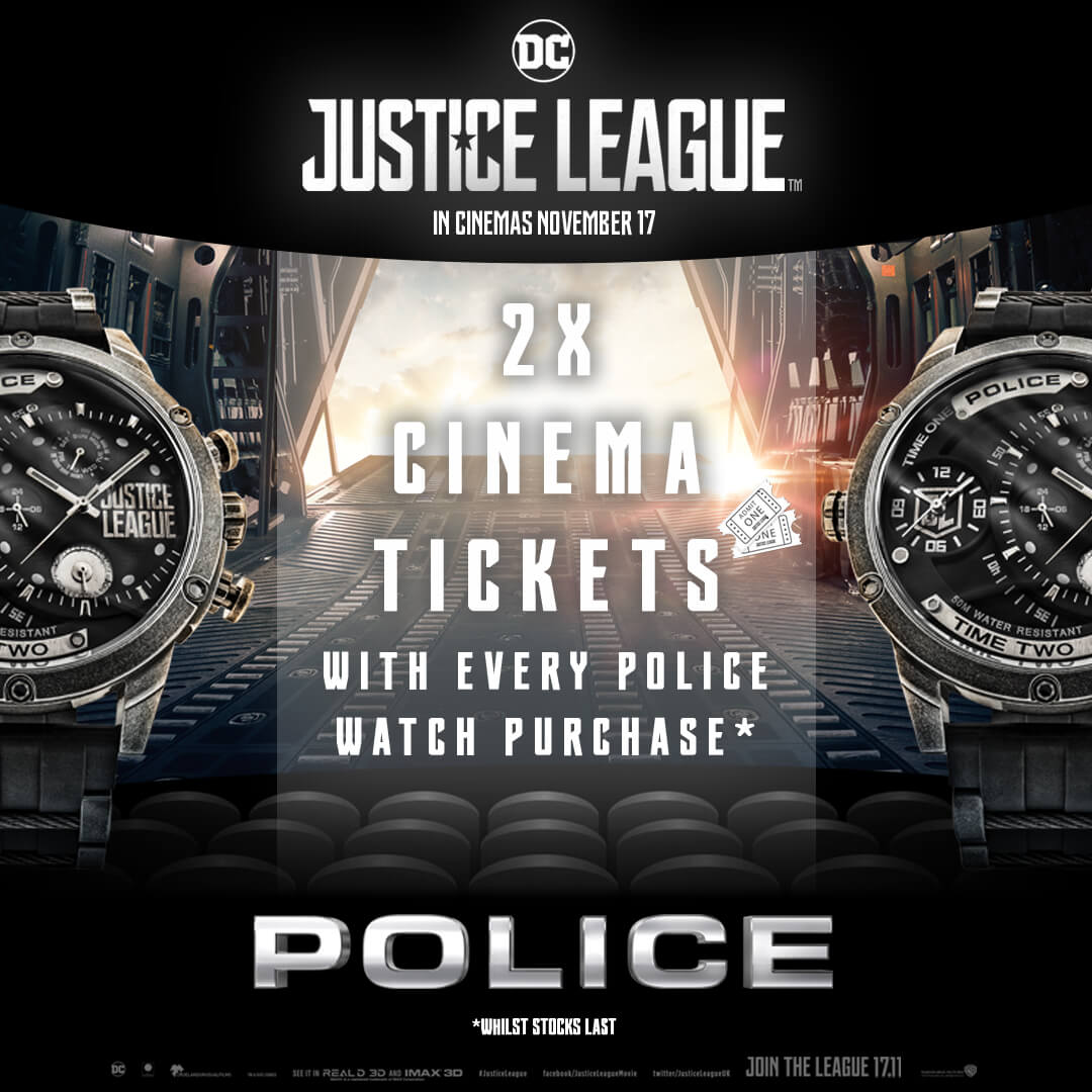 Free cinema tickets with every Police watch purchase