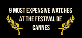 Cannes Film Festival Watches Infographic