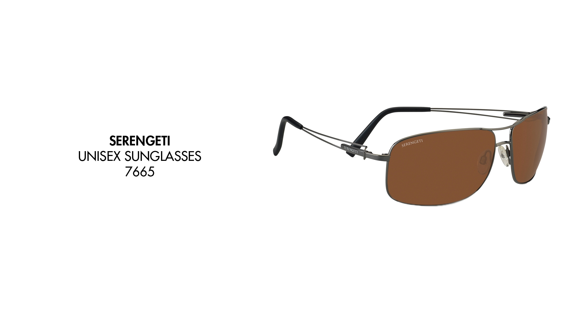 8a2f31ee3d85 Serengeti 7301 Granada Satin Black Polarized 555nm Sunglasses- £148