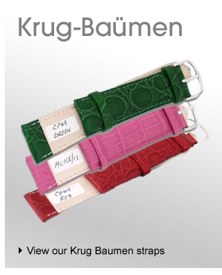 Krug Baumen leather watch straps