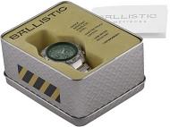 Example image of the Ballistic watch packaging