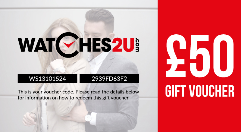 An example of the Watches2U voucher that you would receive